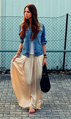 Studded Jackets & Floor Length Skirts