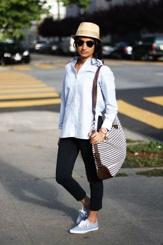 13 Ways to Style Flat Sneakers | Brit + Co