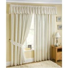 Orlando Lined Voile Curtains Cream 66 x 72 at the fantastic price of sold by Ideal Textiles. Orlando Lined Voile Curtains Cream 66 x 72 can be found in our Pencil Pleat Curtains category along with other products. Cream Curtains, Wide Curtains, Pleated Curtains, Valance Curtains, Curtain Pelmet, Ribbon Curtain, Ok Design, Floral Design, Led Band