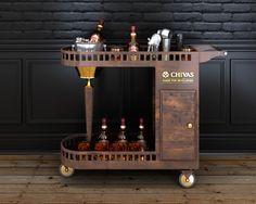 Chivas drink cart on Behance Sketch Bar, Serving Trolley, Interior Sketch, Interior Doors, Drink Cart, Drinks Trolley, Rustic Interiors, Contemporary Interior, Nursery Decor