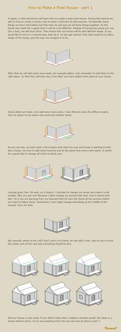 How to make a pixel house 1 by vanmall.deviantart.com on @deviantART