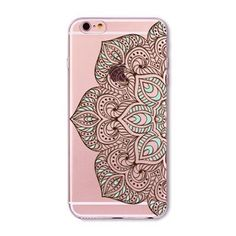 Colorful Floral Paisley Flower Mandala Henna Clear Case For iphone 6 6s fundas capa Silicone Soft Transparent Cellphone bags