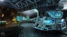Concept Art of Alex Chin Yu Chu - Portfolio - Halo: Reach Spaceship Interior, Futuristic Interior, Futuristic Art, Halo Reach, Science Fiction, Mad Science, Sci Fi Environment, Interior Concept, Sci Fi Fantasy