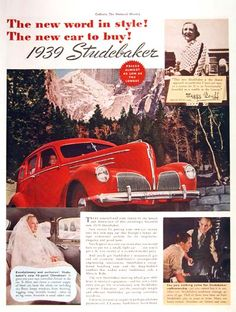 Studebaker Ad, how cool is this? Totally!