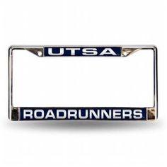 Rico Industries RIC-FCL261101 Texas San Antonio Roadrunners Ncaa Chrome Laser Cut License Plate Frame, Multicolor
