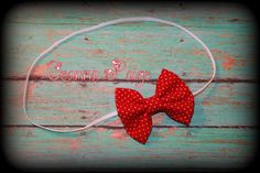 red hair bow headband fabric bow babys first by CeannaPaige Fabric Bow Headband, Fabric Bows, Red Hair Bow, Newborn Headbands, Baby Bows, Babys, Valentines Day, Crochet Earrings, Unique Jewelry