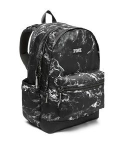 New Victoria's Secret Pink Campus Backpack Black White Marble Marled Book Bag in Clothing, Shoes & Accessories, Women's Handbags & Bags, Backpacks & Bookbags Victoria Secret Rucksack, Mochila Victoria Secret, Victoria Secret Rosa, Victoria Secrets, Cute Backpacks For School, Cute Mini Backpacks, Pink Backpacks, Marble Backpack, Black Backpack