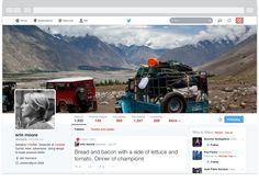 Yukarıdaki görüntü profil sayfanızda olan tasarımın temsili görüntüsüdür. Göründüğü üzere geniş bir kapak resmi ile yeni tasarıma geçen Twitter ,..