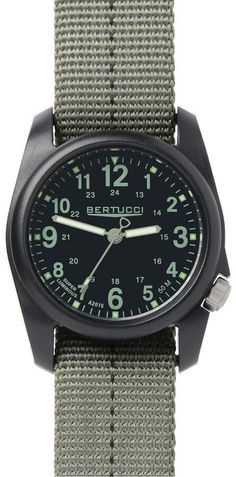 Bertucci Vintage 44 Black Titanium Watch with Tritium Tube Lights 13420 Casual Watches, Cool Watches, Watches For Men, Wrist Watches, Vintage Fur, Vintage Black, Vintage Ideas, Vintage Stuff, Vintage Designs