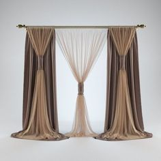 Bedroom curtains with blinds drapery hardware 70 Ideas Bedroom Curtains With Blinds, Living Room Decor Curtains, Swag Curtains, Modern Curtains, Colorful Curtains, Curtain Styles, Curtain Designs, Interior Flat, Interior Design