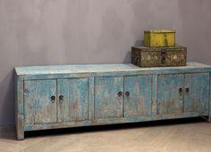 Oud houten tv-dressoir | Woonland