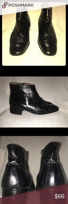 Awesome and well made vintage boots These are very high end quality leather boots. Vintage. Made in Italy. Vergelio brand. Handmade. Vintage Shoes Ankle Boots & Booties