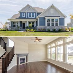 """2,328 Likes, 23 Comments - David Weekley Homes (@davidweekleyhomes) on Instagram: """"The charming features of this two-story home create a warm, comfortable ambiance for friends and…"""""""