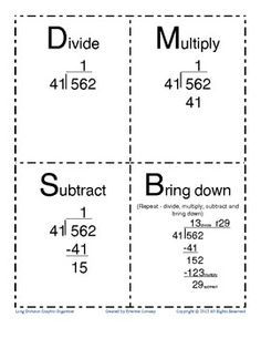 Practice Beginning Long Division- Worksheet has Boxes and