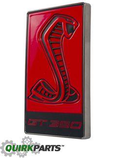 2016 Ford Mustang Shelby GT350 GT350R Red Cobra Snake Radiator Grille Emblem OEM - Ford (FR3Z-8A224-BB)