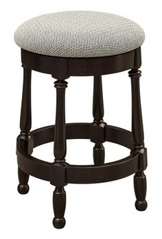 Amish Cosgrove Swivel Barstool Cheers to the Cosgrove, an Amish made wood barstool customized to match your home. Swivel and relax as you enjoy food and drink. Amish made in America. Choice of wood, stain and upholstery. #barstool