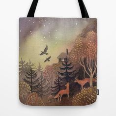 North Sky Tote Bag by ullathynell Sky, Tote Bag, Bags, Heaven, Handbags, Heavens, Totes, Bag, Tote Bags