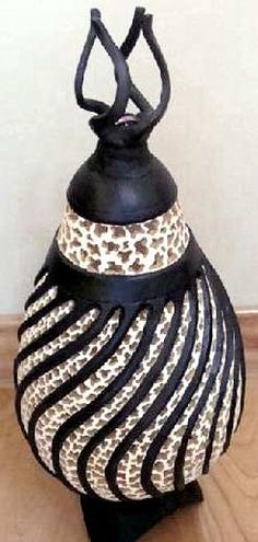 "*Gourd Art - ""Turnings Inspired #2"" by Dottie Cooper"