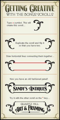 Scrolls Letterhead Fonts / LHF Signmaker/ Antique Fonts