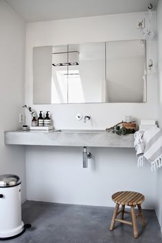 Betongulv på badeværelset