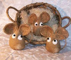 Primitive Pattern  Little grungy Mouse bowl by DriftwoodPrimitives, $4.50