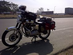 Stopped for an ass break outside panipat. Royal Enfield, Motorcycle, Bike, Adventure, Bicycle, Motorcycles, Bicycles, Adventure Movies, Adventure Books