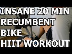 "HIIT Workout - Insane 20 minute Recumbent Bike Workout (enjoy the ""Rocky"" motivation moments)."