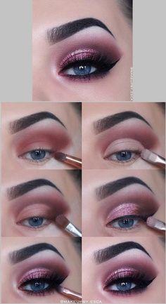 Fancy Makeup, Gold Eye Makeup, Eye Makeup Steps, Makeup Eye Looks, Colorful Eye Makeup, Eye Makeup Art, Contour Makeup, Smokey Eye Makeup, Skin Makeup