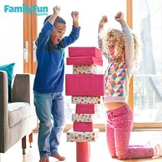 Tippy Tower: It's hard to say what kids will love more about this game: building the giant block tower or watching it come crashing down. #FamilyFunMagDay