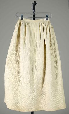 American cotton petticoat, 1860's. | The Met