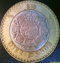 Mexican Peso Coins | ... Coins (gold, silver, numismatic) & Jewelry » Diez Pesos Mexican Coin