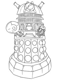 Dr Who Coloring Page | Coloring Pages
