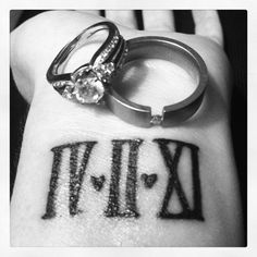 Rings with Anniversary Tattoo