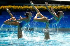 Photo d'actualité : Team Russia competes in the Synchronised Swimming...