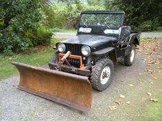 1948 Jeep CJ3a molalla or1 with snow plow