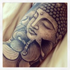 Buddha tattoo by Joao Bosco @ The Family Business in London.