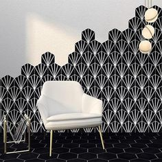 The veins of a lily pad leaf are brought into vibrant contemporary contrast with the Black Hex Water Lily tiles. Metro Tiles Bathroom, Art Deco Bathroom, Bathroom Floor Tiles, Honeycomb Tile, Hexagon Tiles, House Tiles, Bathroom Inspiration, Bathroom Inspo, Bathroom Ideas