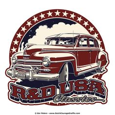 """Roos & Duggan USA Classics"" 1948 Plymouth ""more-door"" logo #vintage #Plymouth #automotive #logo #design"