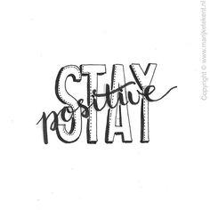 Mantenha-se positivo