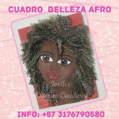 Cuadro Belleza Negra elaborado en foami... con tecnicas de pinturas de pieles afro