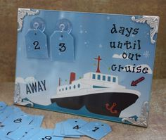 Countdown to Cruise Frame by stampincrazyintx on Etsy, $20.00