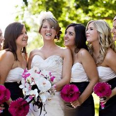 Real Wedding Inspiration: Hot Pink and Damask Real Wedding #wedding