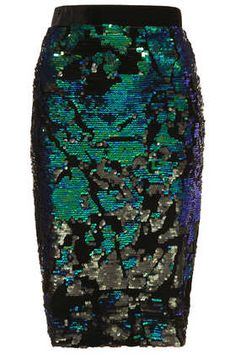 VELVET SEQUIN PENCIL SKIRT #DearTopshop