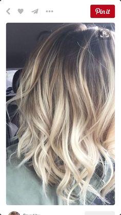 Blonde balayage on short hair...