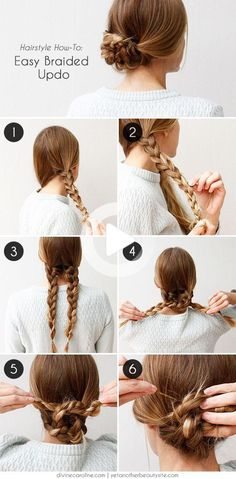 10 Braids You'll Freak Out Over, Braids for your every mood! These stylish braids can change your look completely, we are always looking to mix up our look to keep it interesting, new and fresh. With these amazingly creative and chic braids you'll definitely be the star and the center of attention anywhere you go!!! Braided Hairstyles Updo, Easy Braided Updo, Easy Work Hairstyles, Easy Hairstyles, Beautiful Hairstyles, Short Hairstyle, Medium Long Hair, Medium Hair Styles, Long Hair Styles
