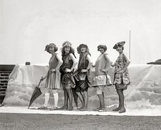 bathing suits, 1922.