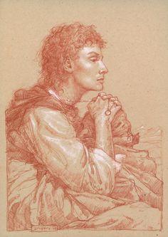 Donato Giancola - Frodo in Ithilien