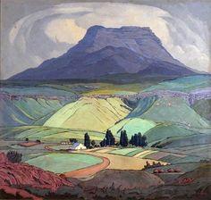 Jacobus Hendrik Pierneef, South African Landscape painter 1886-1957