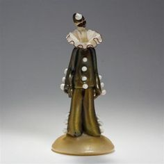 Cenedese-Murano-commedia-dell-039-arte-glass-clown-figure-Lot-134