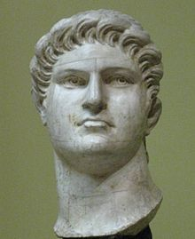 57. Nero  Was the fifth and last Roman Emperor of the Julio-Claudian dynasty.  Nero was the adopted son of his grand-uncle Claudius. He became emperor on 13 October 54, after Claudius died. Claudius was probably assassinated by Nero's mother Agrippina the Younger. Agrippina had motive in ensuring the succession of Nero before Britannicus (Claudius' natural son) could gain power.